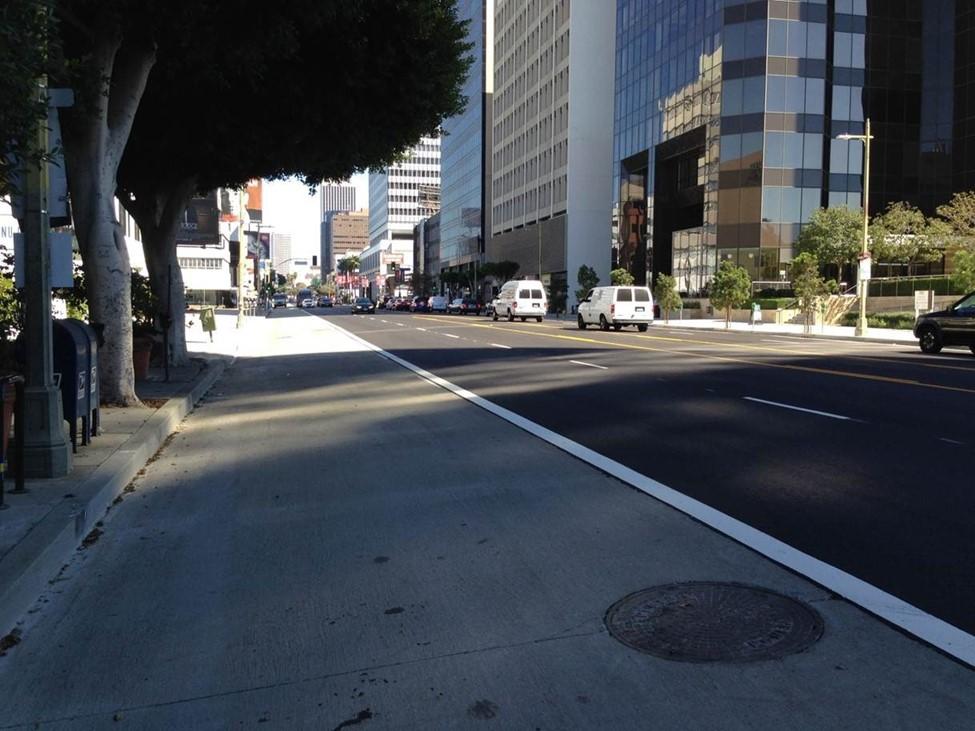 concrete bus lane BRT
