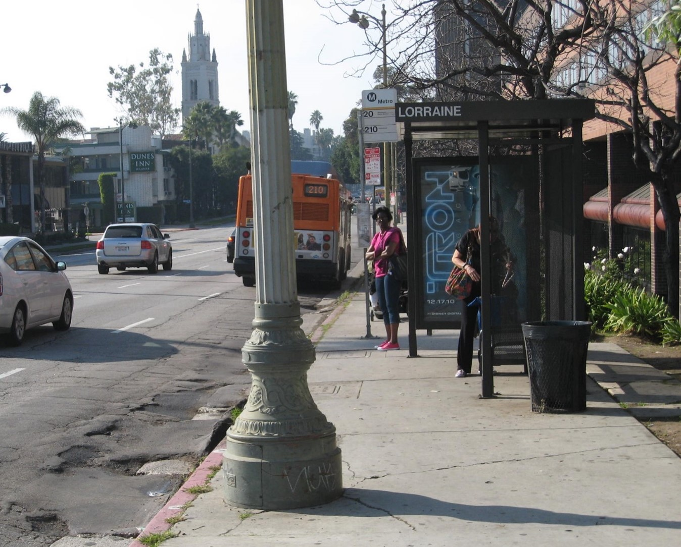 Bus Lane on Wilshire Blvd